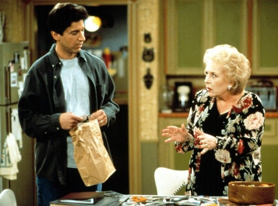 Scene of comedy series Everybody Loves Raymond with Raymond and Doris