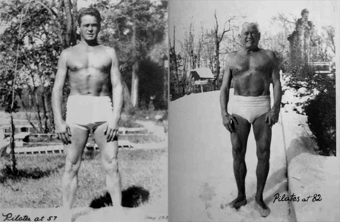 Joseph Pilates at 57 and 81 years of age