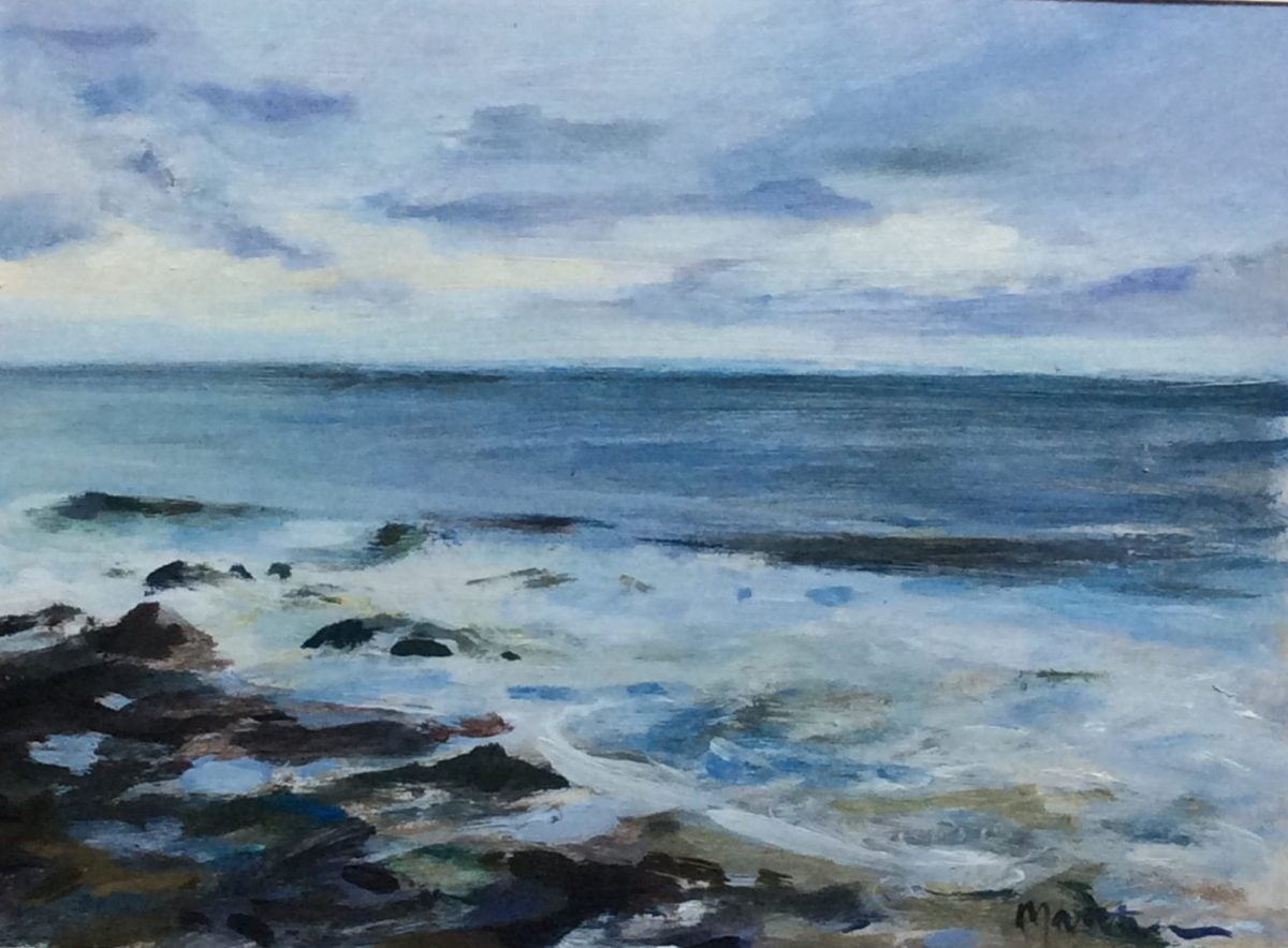 Painting of the sea by Douglas Matthews