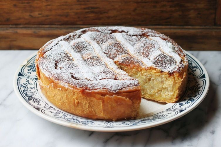 Pastiera cake from Naples, Italy