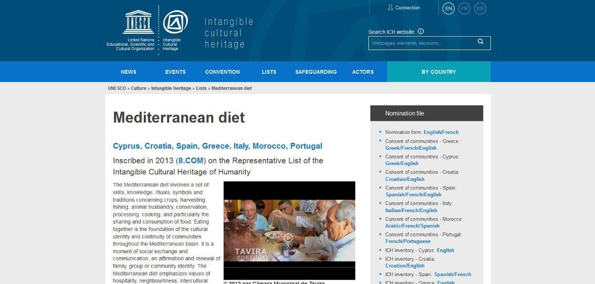 UNESCO Intangible Cultural Heritage - Mediterranean Diet
