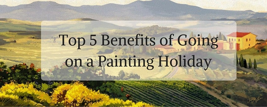 Banner image for Benefits of Going on a Painting Holiday post