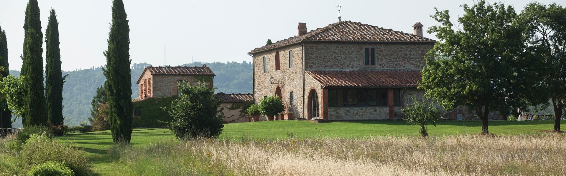 Beautiful villa in the Italian countryside.