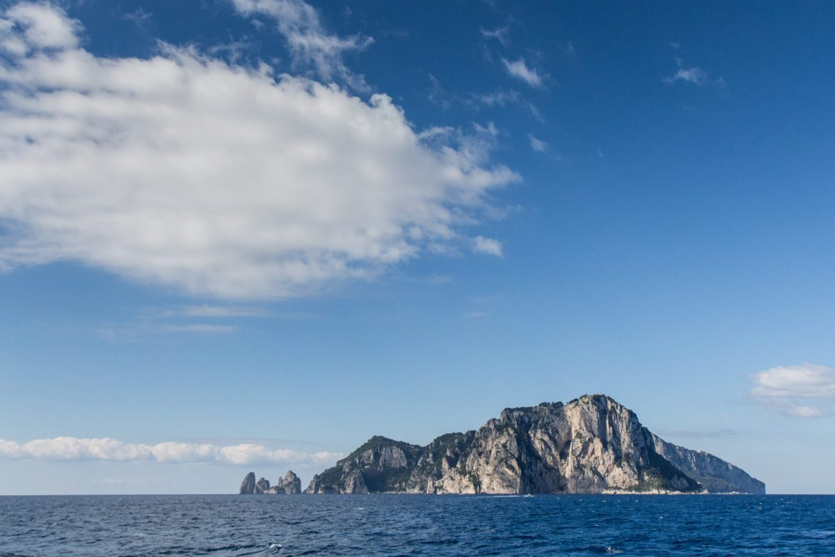 View across the sea of Capri