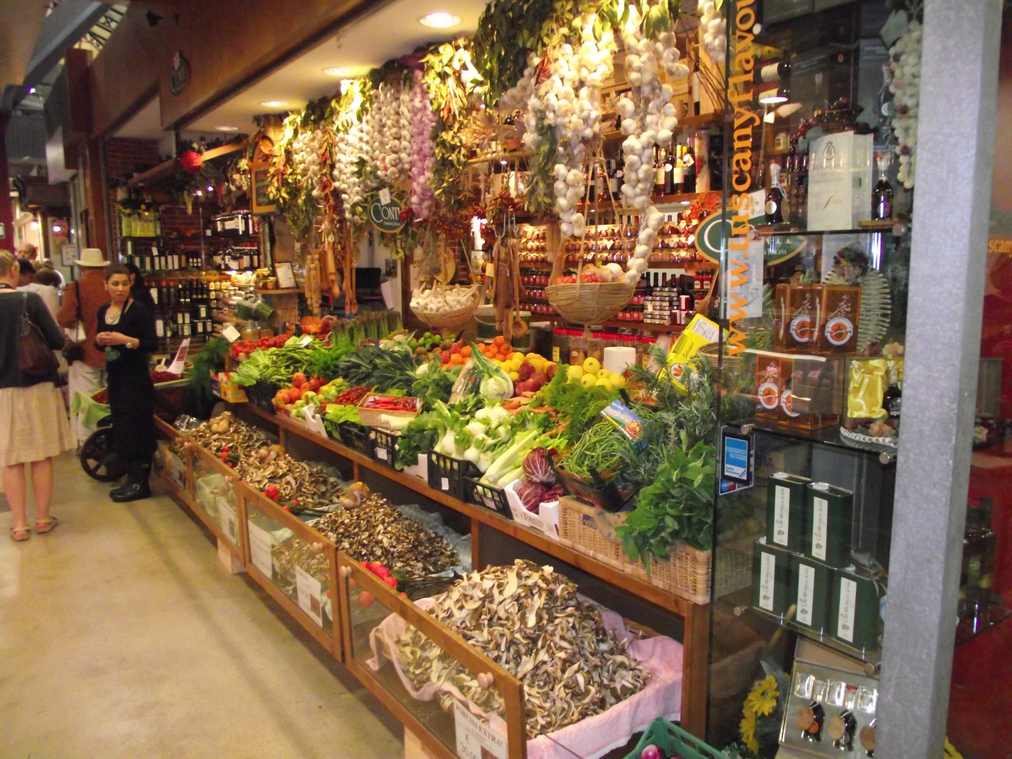 Food market in Italy