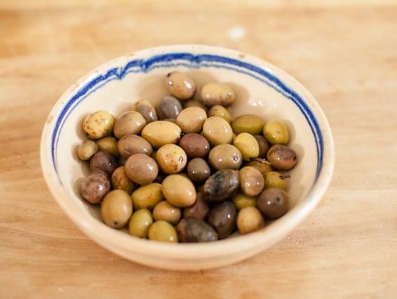 Bowl of olives