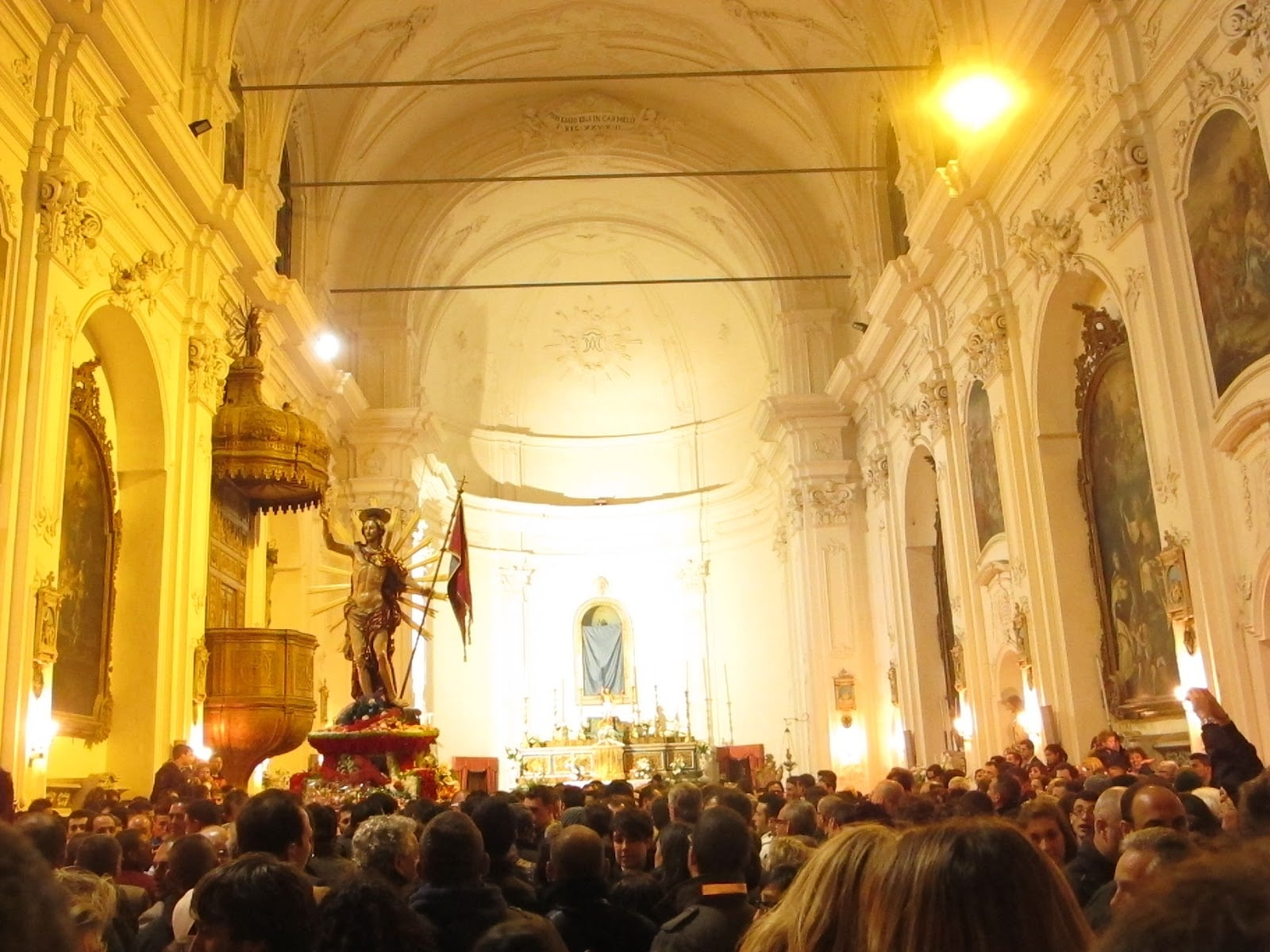 Easter traditional parish church in Italy