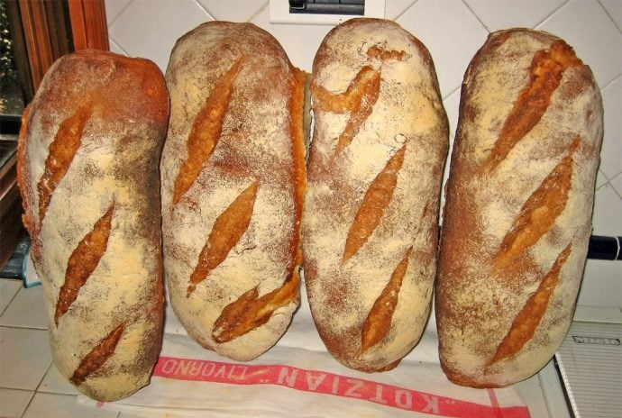 Four Loaves of Tuscan bread