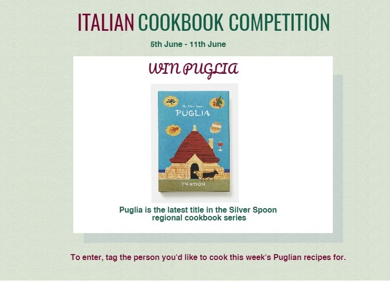 Puglia cookbook competition