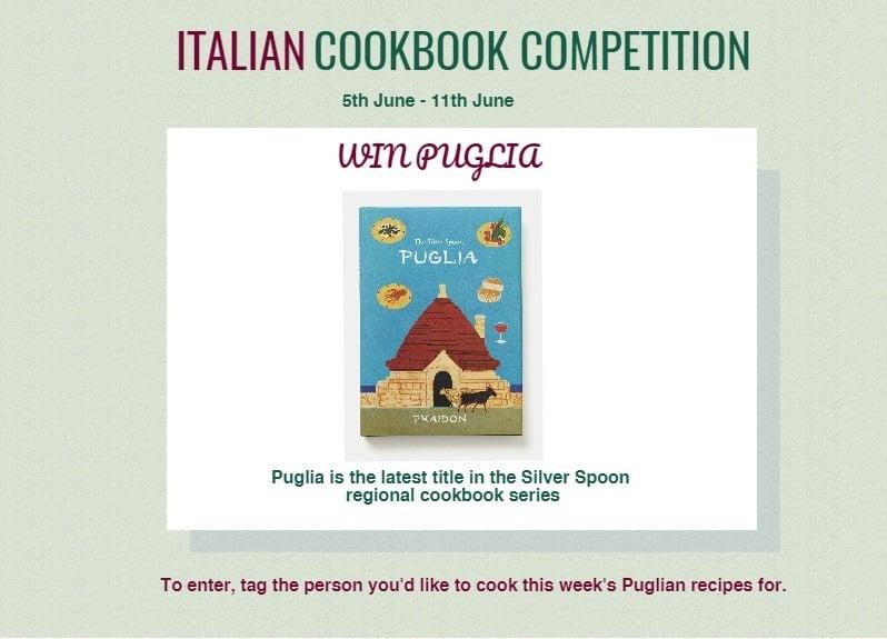 Puglia cookbook competition