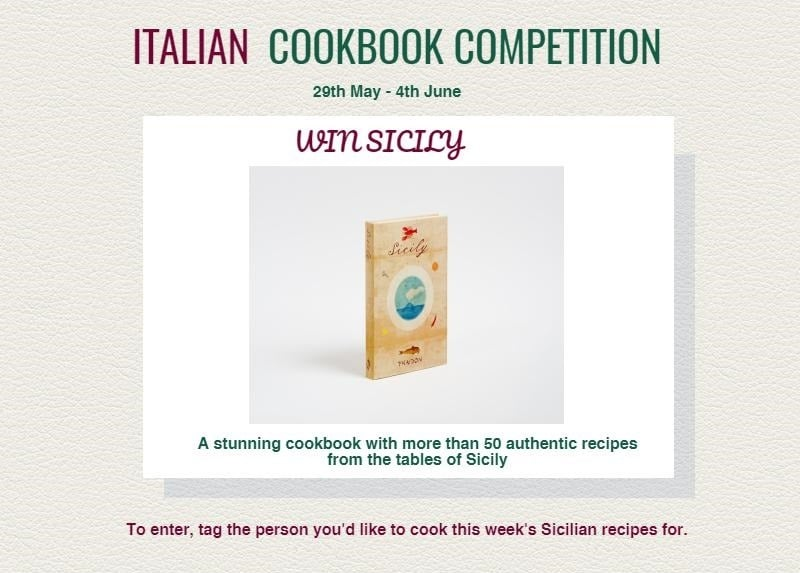 Sicily Cookbook competition