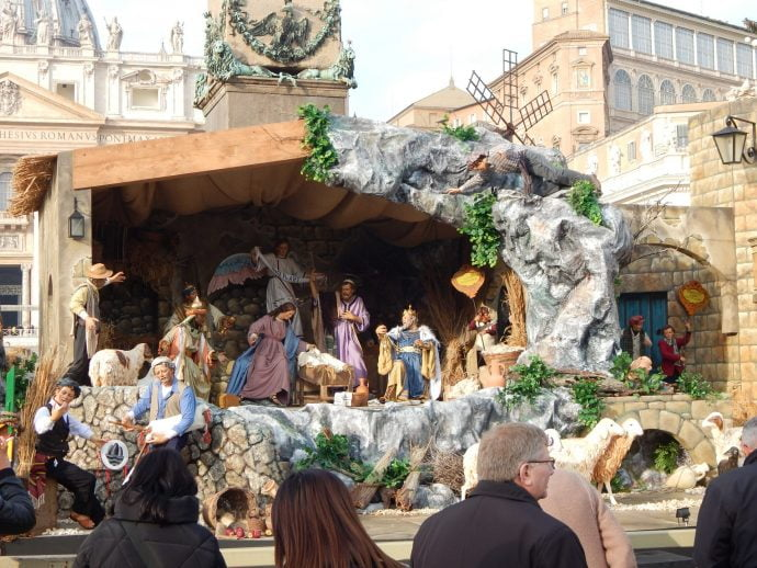 A traditional presepe display in Italy