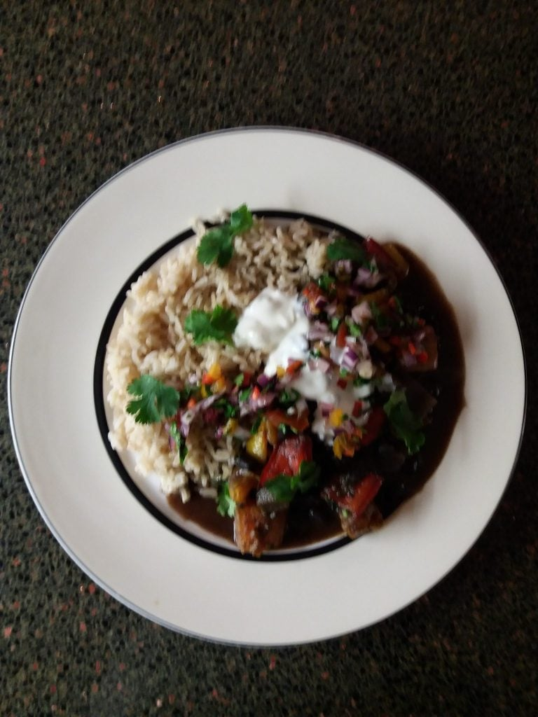 Marilyn's smokey veggie feijoada from Jamie Oliver's cookbook