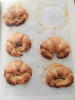 Florentine Cornetti on baking paper