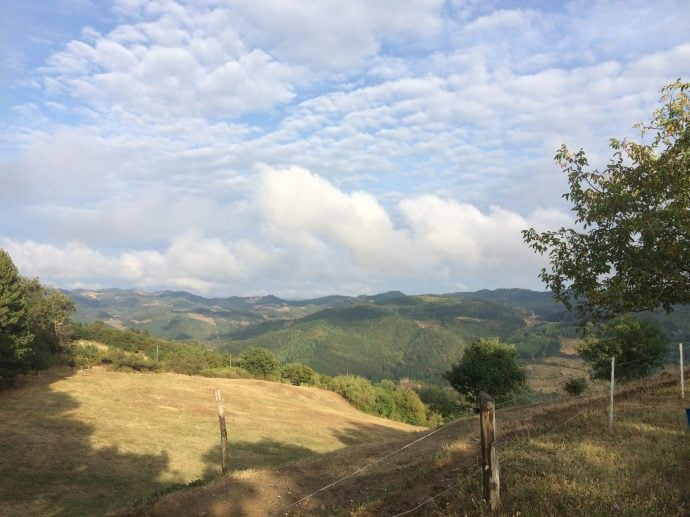 View from the villa - Romagna hills above town of Tredozio