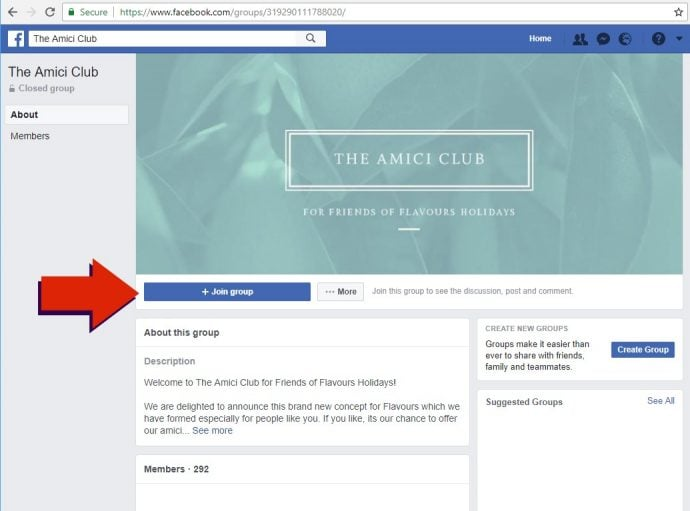Amici Club Facebook Group