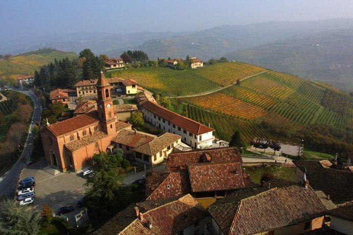 Panorama of Borgomanero Piedmonte