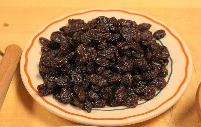 Bowl of sultanas
