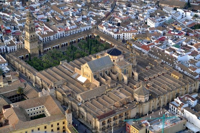 Mezquita de Córdoba desde el aire