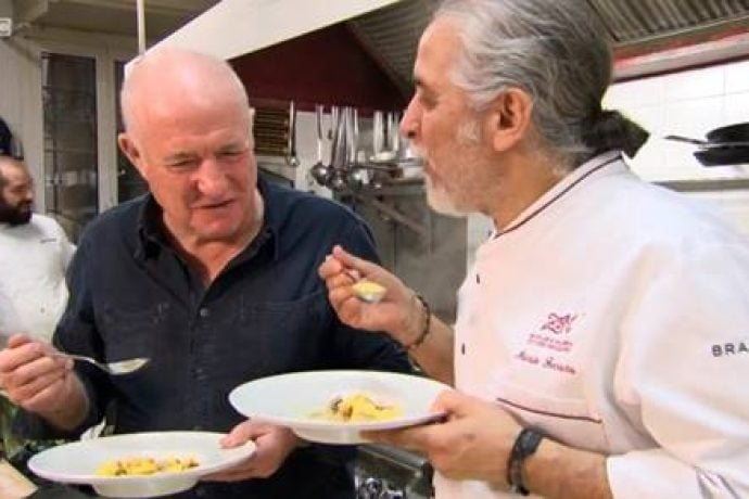 Mario with Rick Stein for BBC