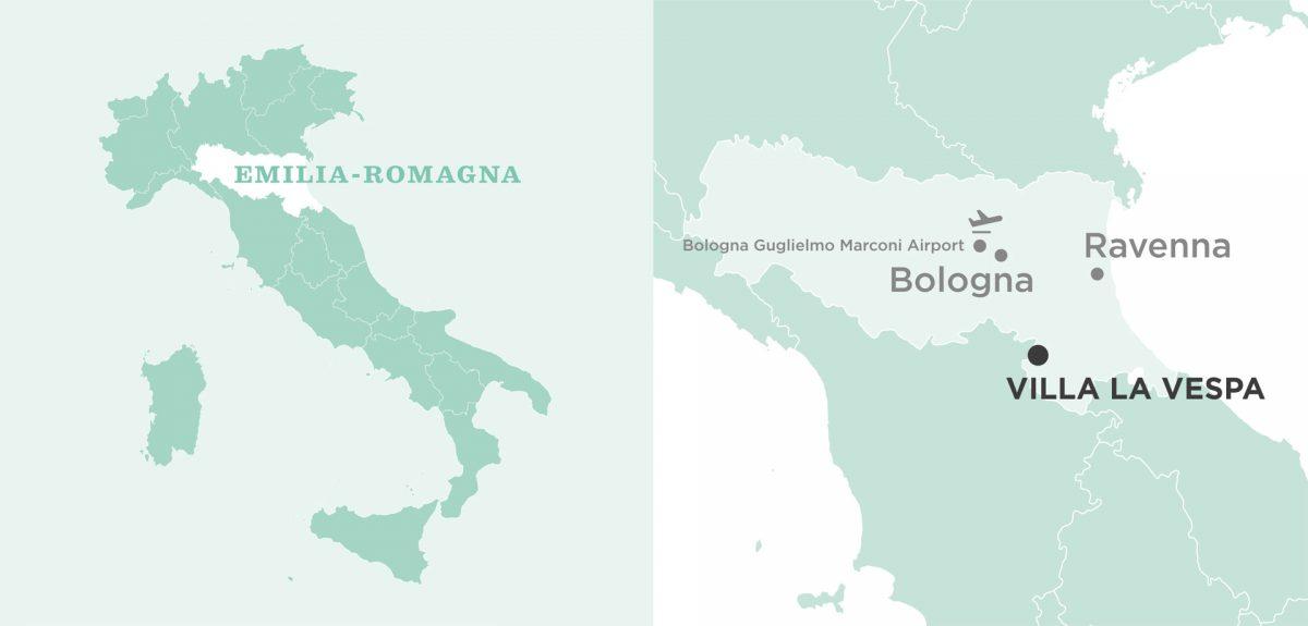 Bologna Map Villa La Vespa