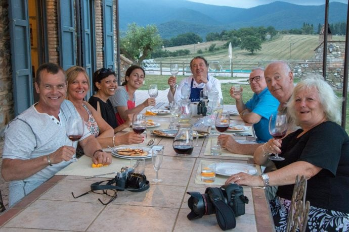 Tuscany Photography Holiday Farewell Dinner