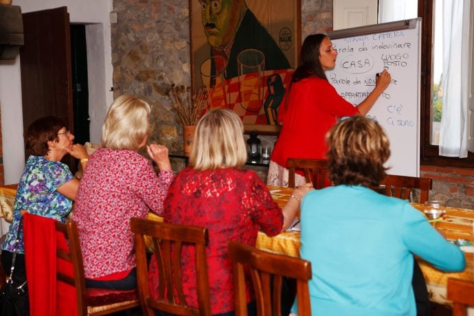 Indoor Italian Language Lessons with Guests