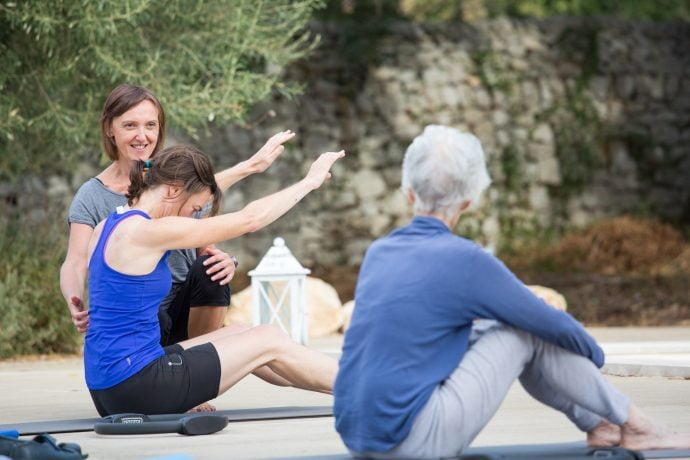 Pilates Teacher Teaching Guests