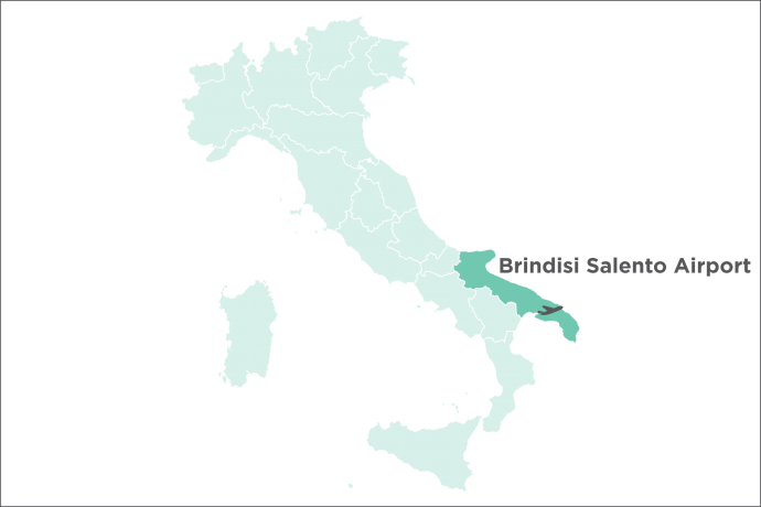 Brindisi Salento Airport Map