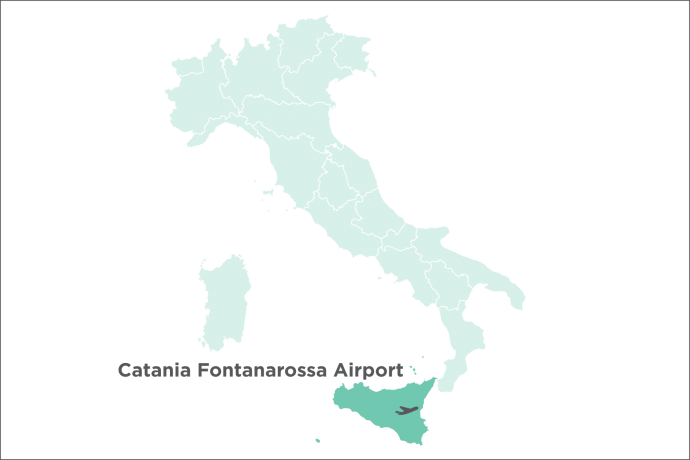 Catania Fontanarossa Airport Map