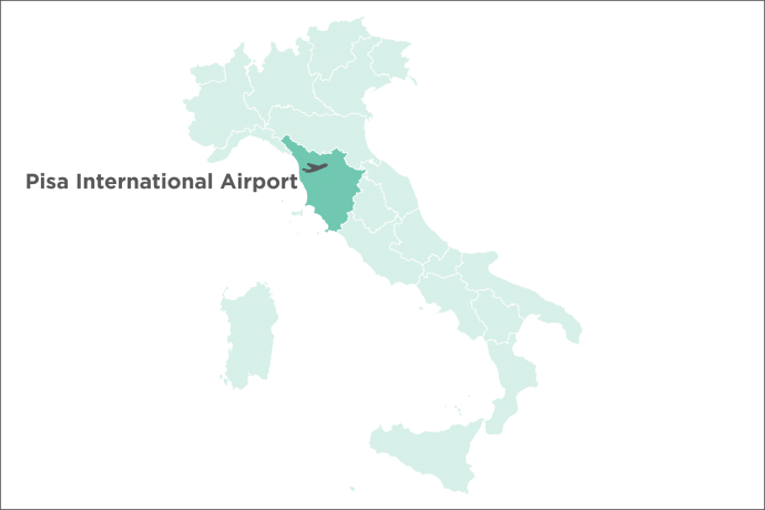Pisa International Airport Map