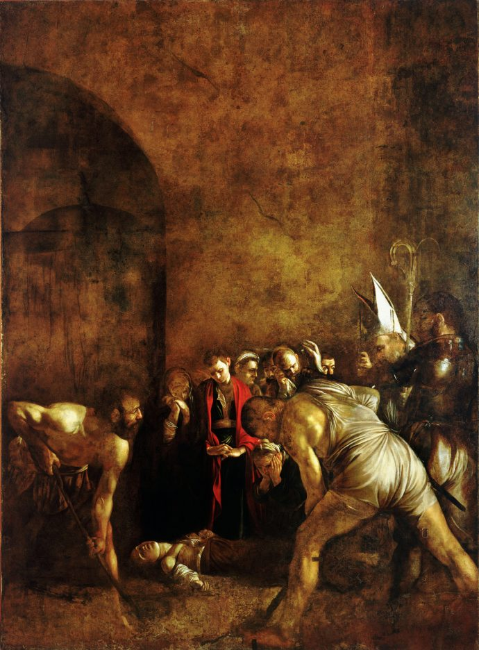 Burial of Saint Lucy by Caravaggio