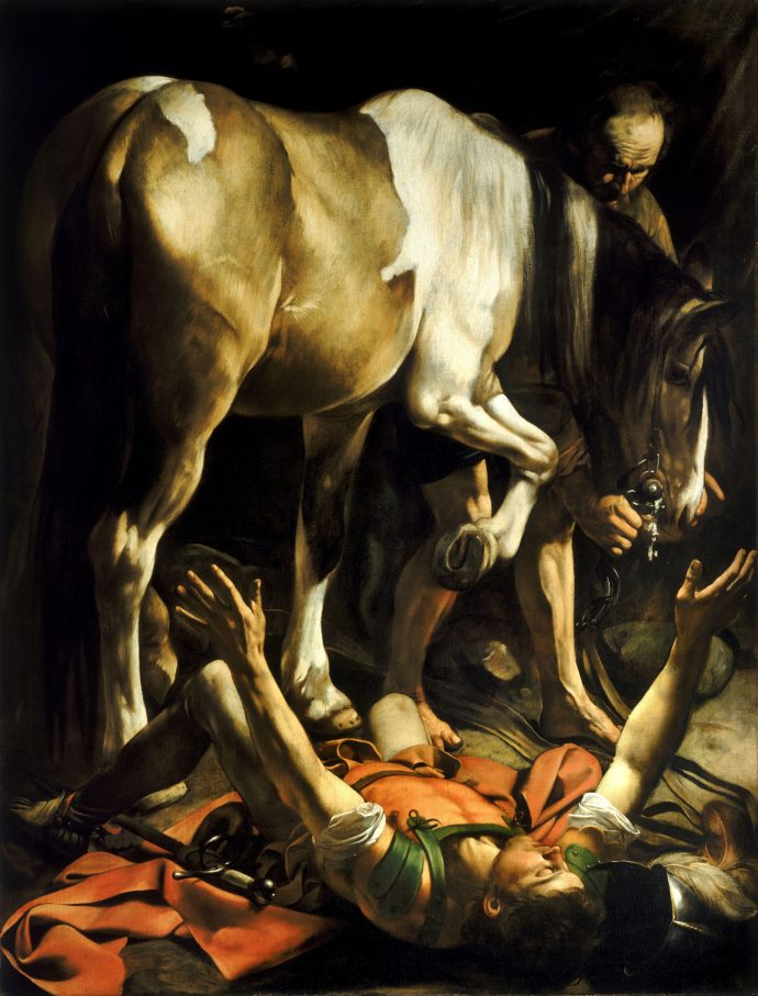 The Conversion of St Paul on the way to Damascus by Caravaggio
