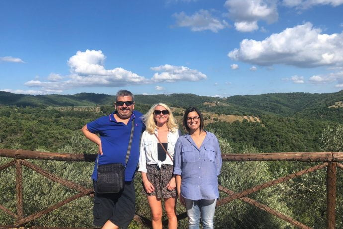 Flavours team at villa in Tuscany