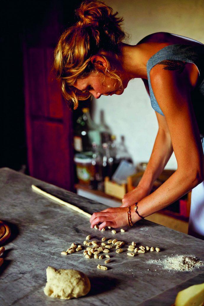 Letitia Clark rolling homemade pasta