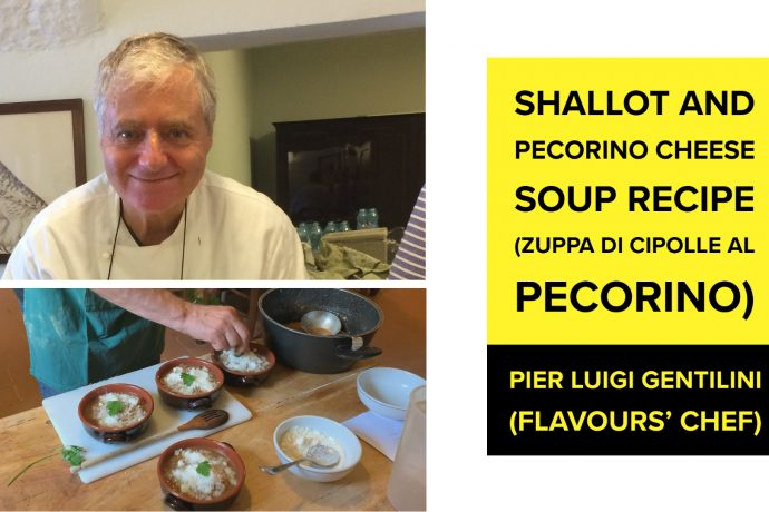 Shallot and Pecorino Cheese Soup Recipe (Zuppa di Cipolle al Pecorino) by Pier Luigi Gentilini