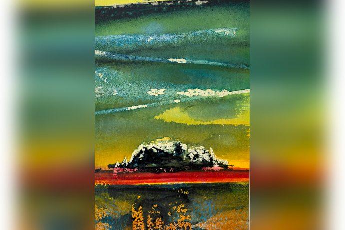 Hugh Tuckerman Painting - Dark Island