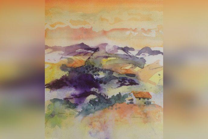 Hugh Tuckerman Painting - Tuscan landscape 2