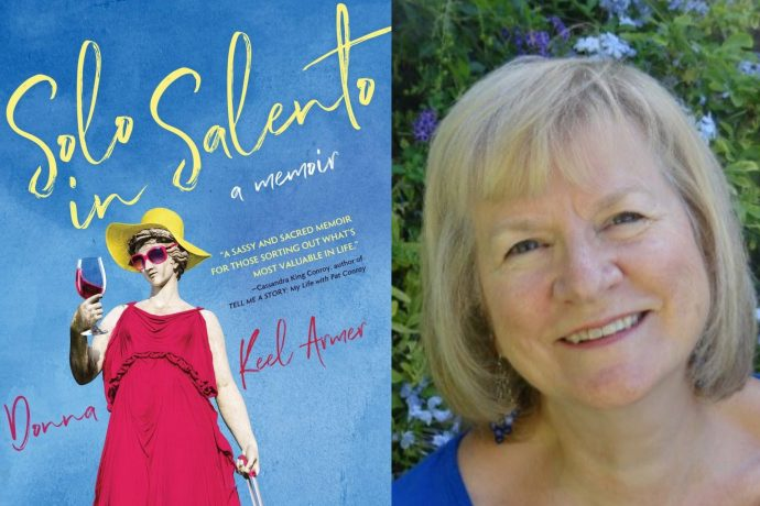 Donna Armer and her book, Solo in Salento