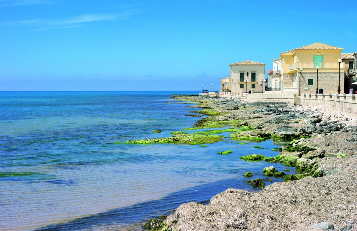 Seaside views of Sampieri in Sicily