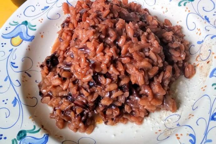 Dish of risotto