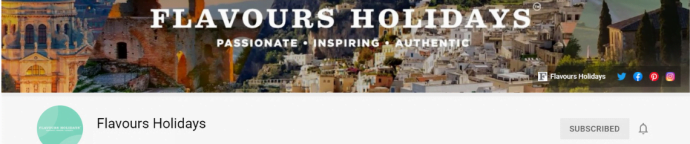 Flavours Holidays YouTube Channel