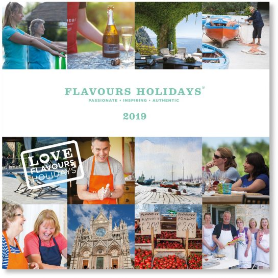 Flavours Holidays 2019 Brochure Cover with Shadow
