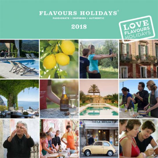Flavours Holidays Brochure 2018 Front Page
