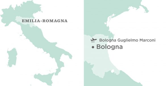 Flavours Holidays Bologna Region, Villa and Airport Map