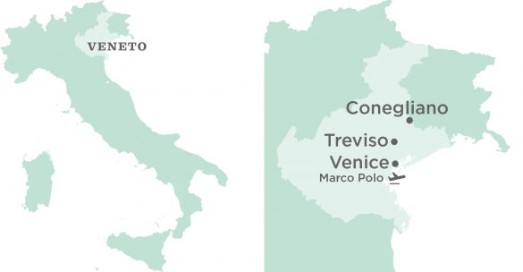 Flavours Holidays Venice Region, Villa and Airport Map