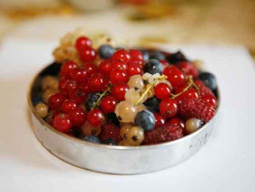 Fresh looking berries ready to be eaten.