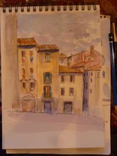Watercolour Painting by Michael Gahagan in Arezzo