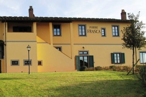 2 storey villa in the Tuscan countryside in Italy.