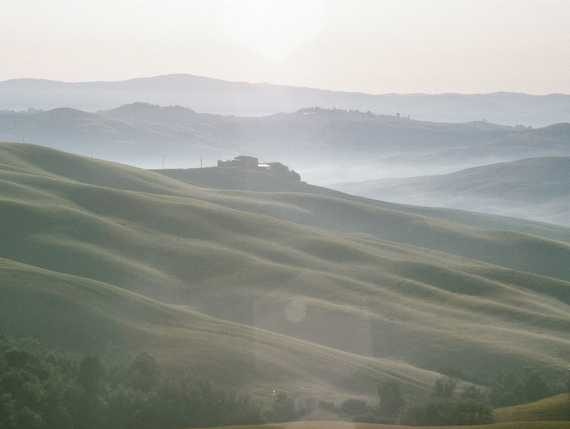 stunning view of rolling hills in Tuscany